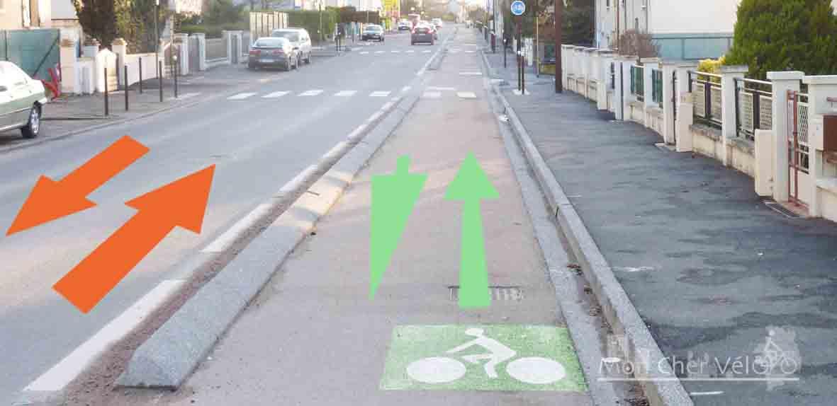 On A Teste La Piste Cyclable De La Rue De La Sente Aux Loups Rue Felix Chedin Monchervelo Fr